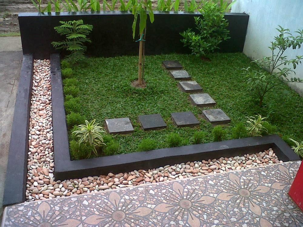 taman minimalis di halaman depan