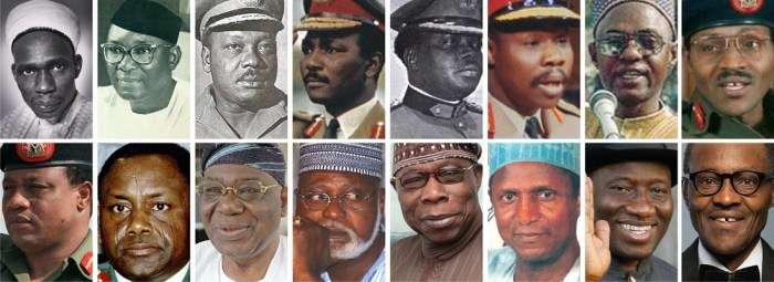 List Of Nigerian Presidents From 1960 Till Date And Their Years Of Service