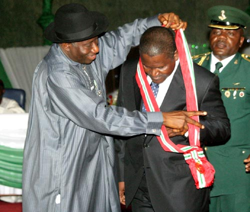 Dangote receives Grand Commander of the Order of the Niger (GCON) Award