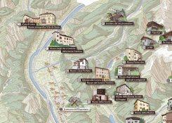 Mappa del Trentino illustrata