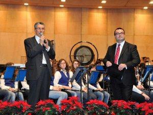 Franco Delli Guanti presenta un concerto all'Auditorium di Trento.