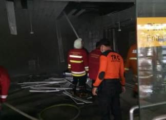 ATM Center Terminal Domestik Bandara Ngurah Rai Terbakar