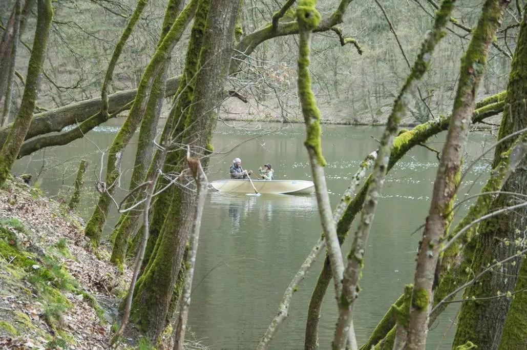 Canotage sur le lac de Nisramont
