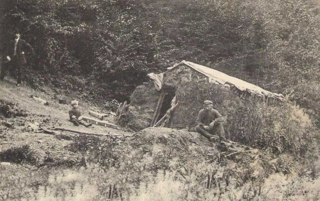 Hutte d'ouvrier des bois
