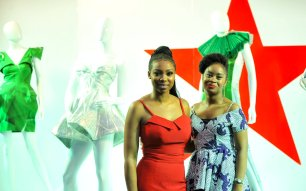 Bolanle Olukanni and Amina Jagun Asst Brand Manager, Heineken at the Heineken Lagos Fashion And Design Week 2017