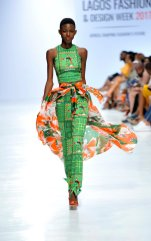 Model wearing a piece from the Africa Inspired Fashion by Heineken at the Heineken Lagos Fashion And Design Week 2017 009