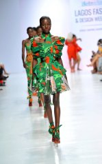 Model wearing a piece from the Africa Inspired Fashion by Heineken at the Heineken Lagos Fashion And Design Week 2017 015