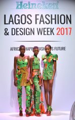 Models at the Heineken Lagos Fashion and Design Week 2017