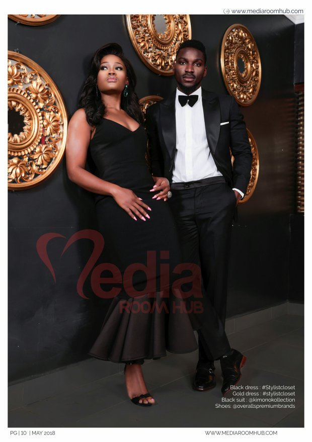Photos and Video; #BBNaija stars Cee-c and Tobi cover MediaRoomHub Magazine's Latest Edition..