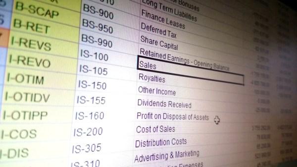 Excel sheet.