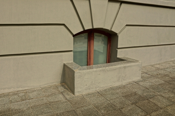 Window well.