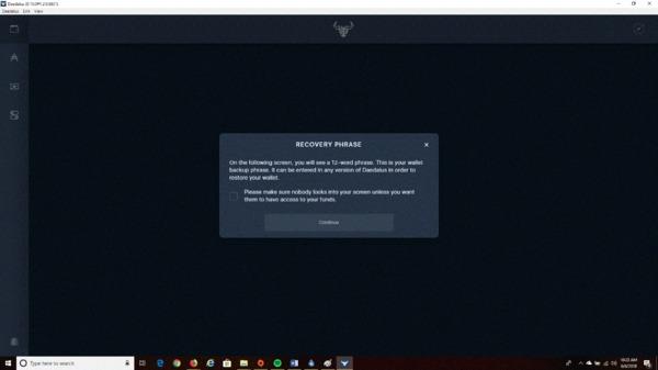 Create a unique recovery code screen.