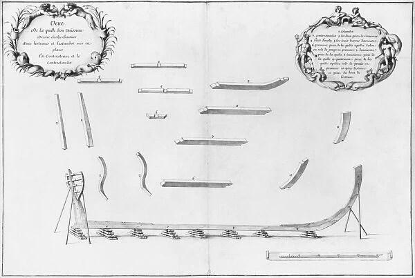 Keel of a vessel, illustration from the Atlas de Colbert