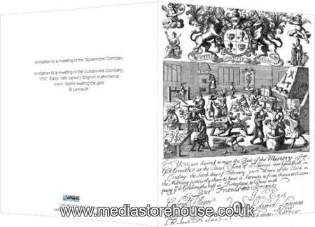 Greeting Card of Invitation to a meeting of the Goldsmiths