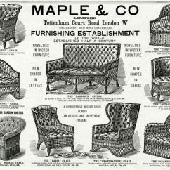 Comfortable Wicker Chairs Floating Lawn Chair Advert For Maple Co Furniture 1892 Seletion Of Interior And Exterior Use