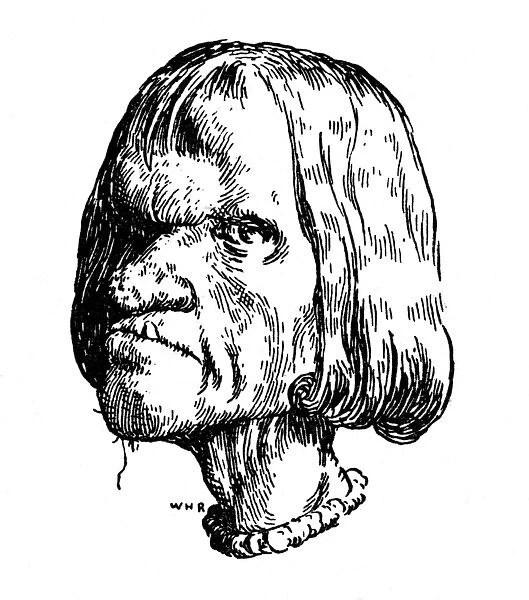 Grotesque head, illustration by William Heath Robinson