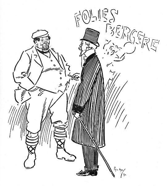 A Yorkshireman at the Folies Bergere Show, Paris, France