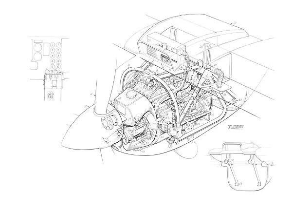Pilatus Britten Norman BN-2T Allison 250B 17C Cutaway