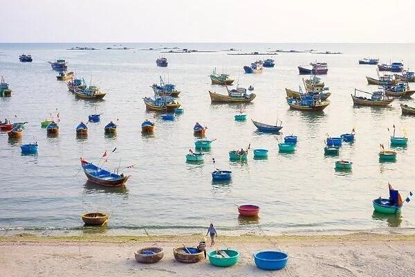 Fishing boats in harbor at Mui Ne. Phan Thiet #14664698 Canvas