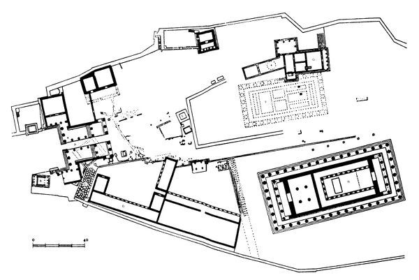 Plan of the Acropolis in Athens, Greece, as it appeared in