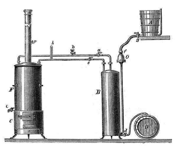 Pasteurization apparatus. Illustration of a Pasteurization