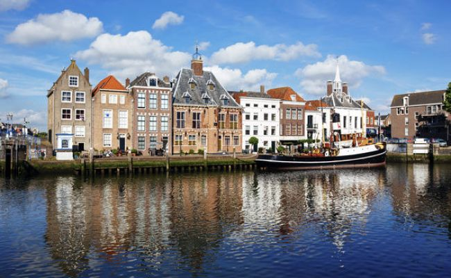 Old Town Of Maassluis South Holland Netherlands