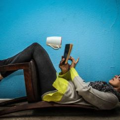 Chair Upside Down On Wall Nserc Design Engineering Unusual Trick Photography Model Sitting A Floating Mug Different