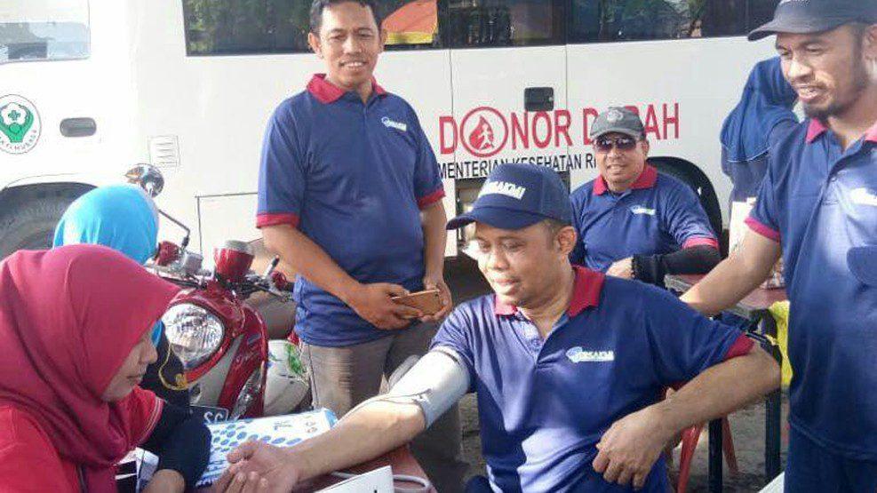 Persakmi Sulsel Gelar Donor Darah di Lapangan Lasinrang Pinrang