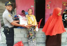 Giat Patroli, Polsek Malangke di Sertai Pemberian Bantuan Sembako