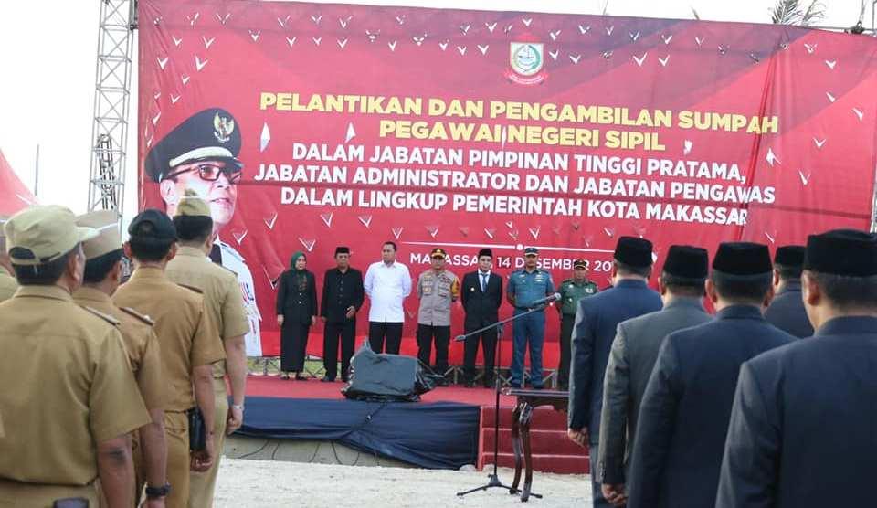 Wali Kota Makassar Lantik 84 Lurah Baru, Ini Nama-Namanya