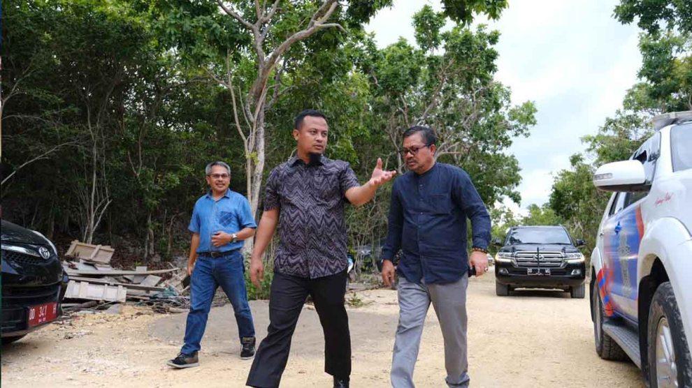 Wagub Sulsel Tinjau Pembangunan Jalan Wisata dan Pelabuhan di Desa Bira