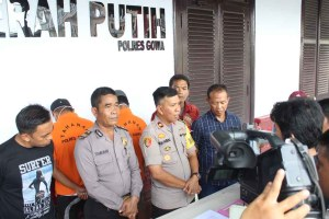 Polres Gowa Amankan 2 Tersangka  Pembangunan Kota Pattalasang
