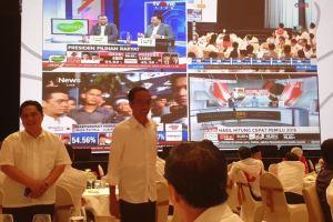 Menang Hasil Hitung Cepat, Jokowi Sampaikan Terima Kasih