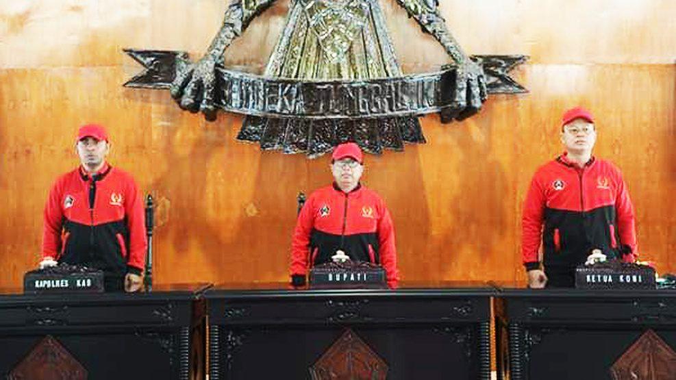 Bupati Blitar Lepas Keberangkatan Kontingen Porprov VI Jatim