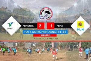 Taklukkan PS PLN 2-1, PS Pelindo 4 Melaju ke Babak Final Galakarya Zona Sulsel