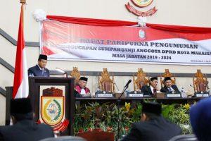 Hadiri Pelantikan Anggota DPRD Makassar 2019-2024, Iqbal Suhaeb Siap Bersinergi