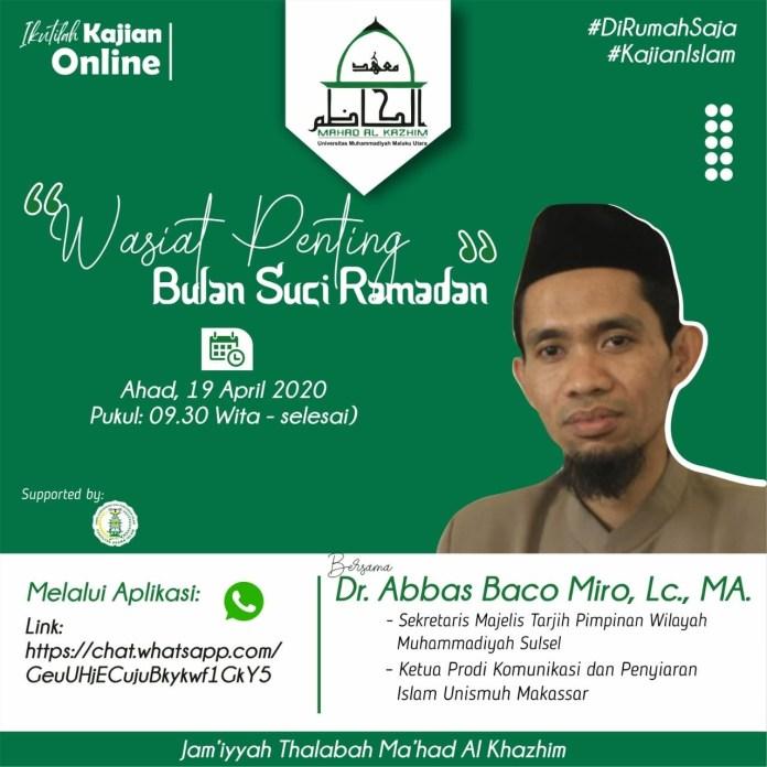Kajian Online di Universitas Muhammadiyah Maluku Utara