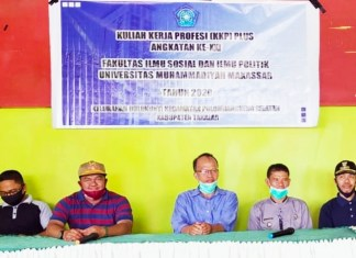 Lurah Pa'bundukang Takalar Minta Mahasiswa KKP Plus Unismuh Makassar Bersinergi Genjot Terobosan Inovasi