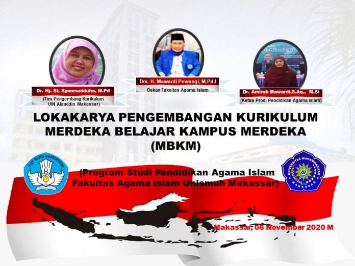 Prodi PAI Unismuh Makassar Lokakarya Pengembangan Kurikulum MBKM