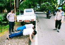Pelanggar Prokes di Bontonompo Diberikan Sanksi Fisik