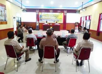 Polres Gowa Gelar Rapat Penyusunan LKIP