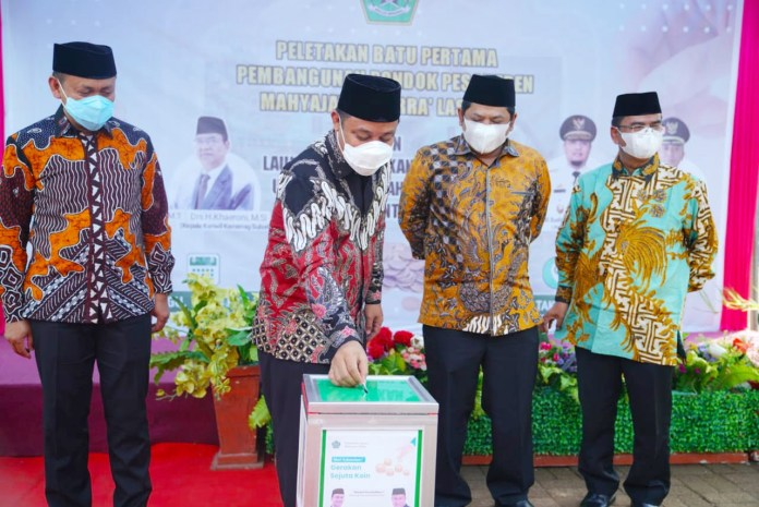 Plt Gubernur Hadiri Peletakan Batu Pertama Ponpes Mahyajatul Qurra' Takalar