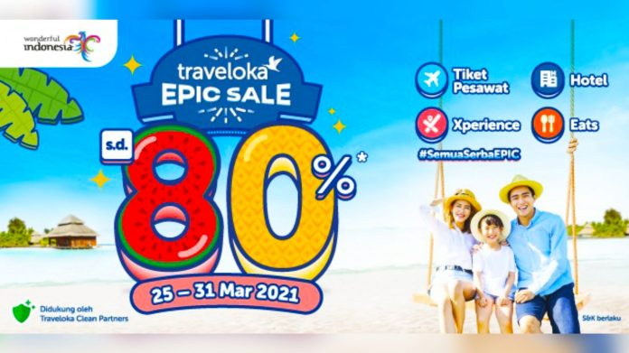 Melalui EPIC Sale, Traveloka Dukung Program Pemerintah Mendorong Pemulihan Ekonomi Pariwisata Nasional