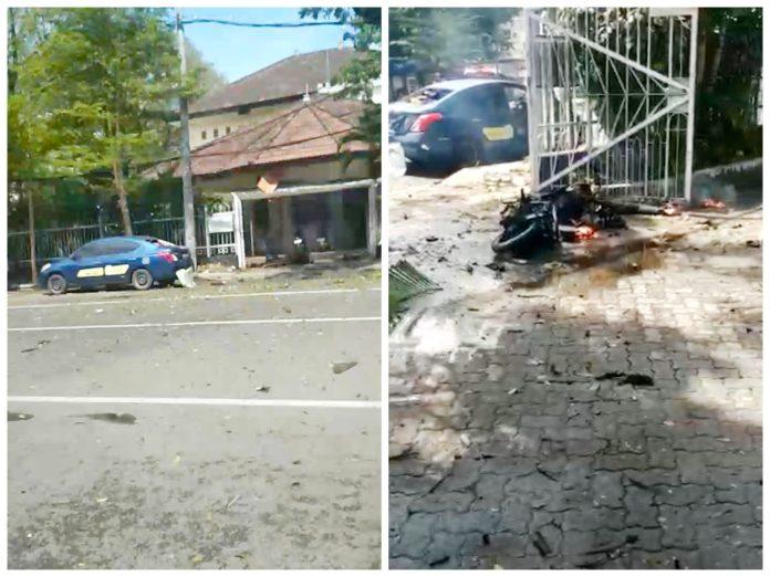 Ledakan Bom Terjadi di Depan Gereja Katedral Makassar