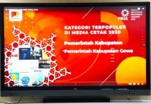 PRIA 2021: Gowa Jadi Kabupaten Terpopuler di Media Cetak Tahun 2020