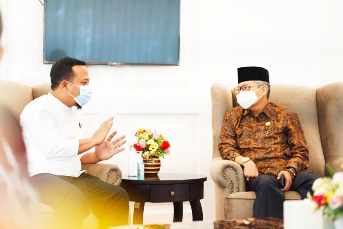 Sinergitas Pembangunan, Wali Kota Parepare Temui Plt Gubernur Sulsel