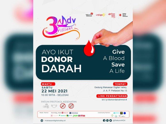 Ultah ke-3, Makassar Digital Valley akan Gelar Donor Darah