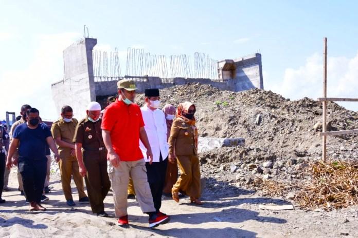 Tinjau Progres Pembangunan Jembatan Malake, Plt Gubernur: Percepatan pembangunan infrastruktur terus dilakukan