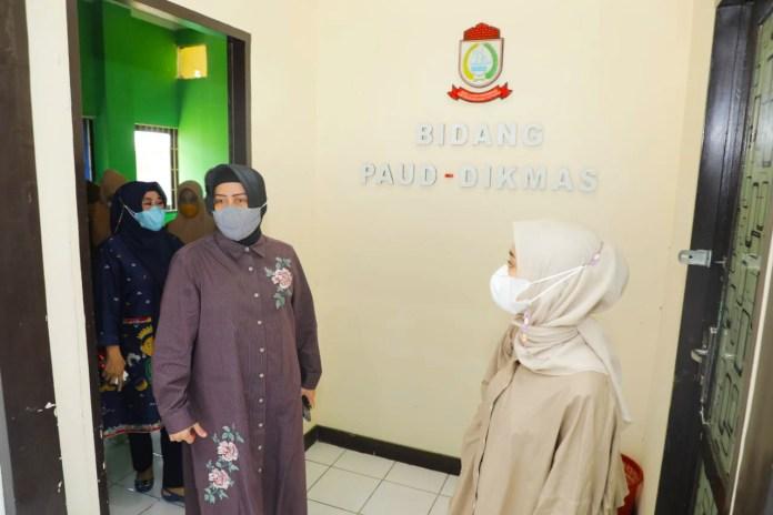 Indira Yusuf Ismail Tinjau PAUD dan TK di Kota Makassar