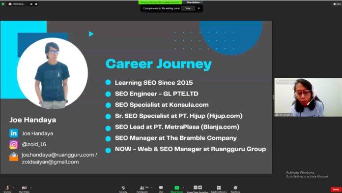 Hari Kedua Webinar Marketing 101, Hadirkan Web & CEO Manager Ruangguru